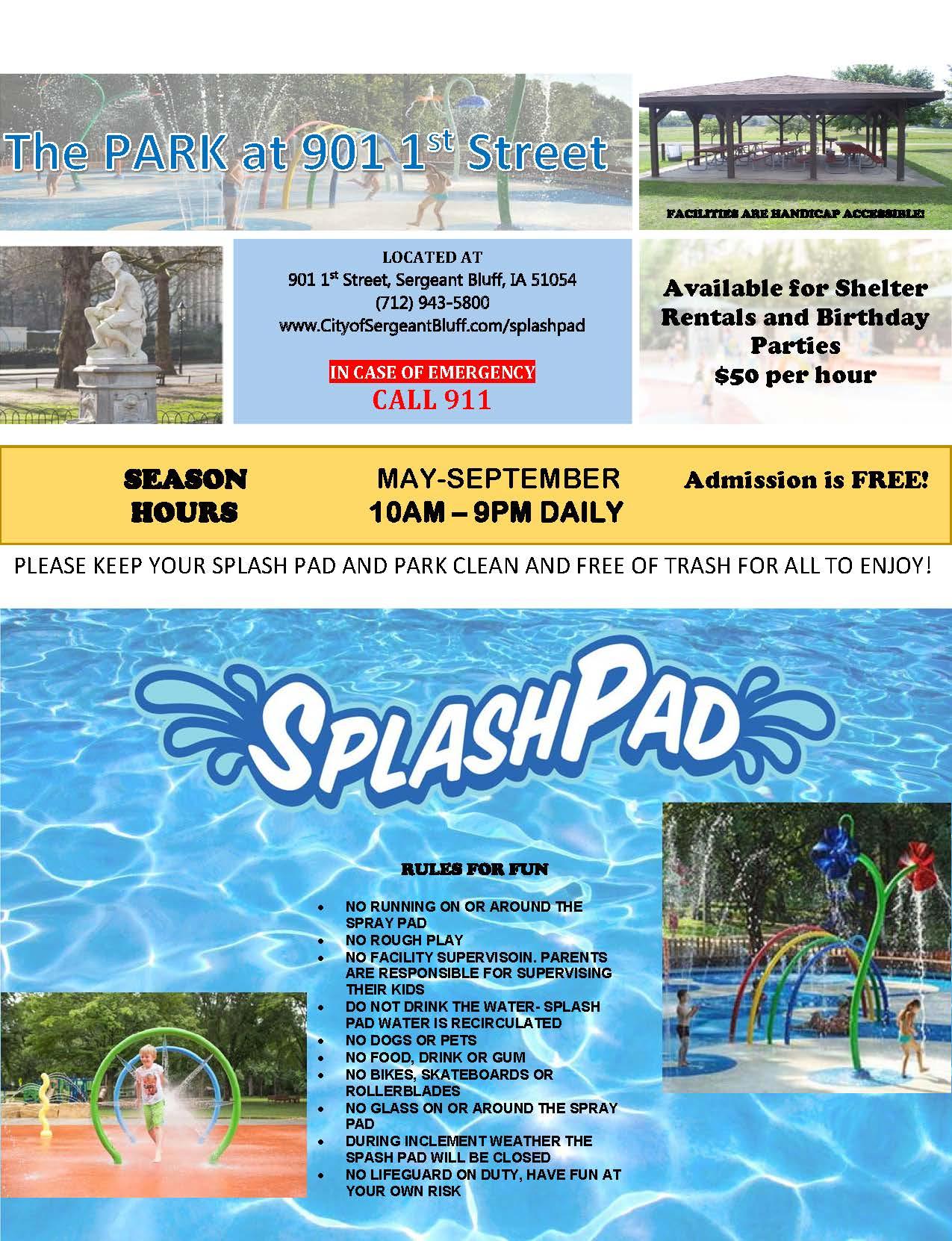 Splash Pad Flyer